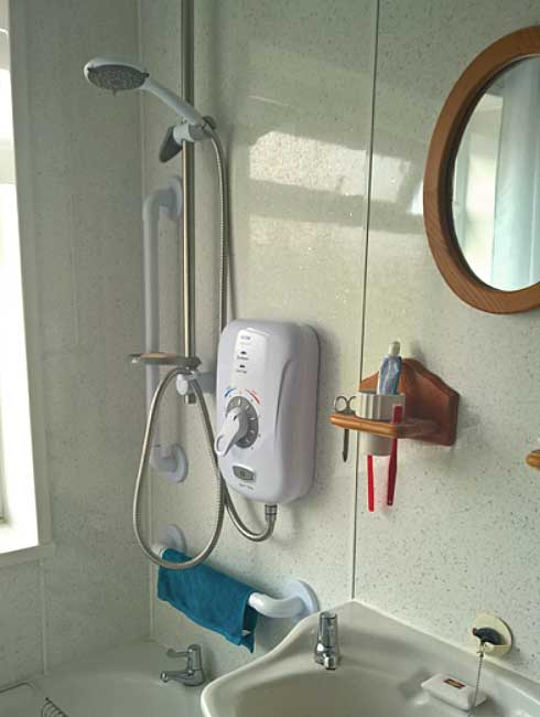 Care & Repair in Powys - new shower