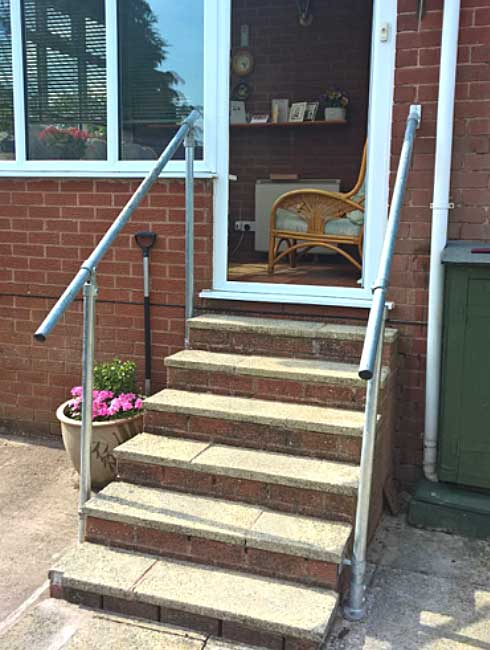 Care & Repair in Powys - new handrail